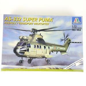 Italeri AS-332 Super Puma Assault Transport Helicopter Model Kit #002 1:72 Scale
