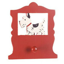 Midwest Wooden Peg Wall Holder 6 x 6 in. - Red Scottie Dog