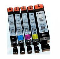 Canon Genuine PGI-270 PGBK CLI-271 B C M Y Ink Cartridge SETUP INK 5PCS
