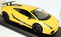 Maisto 1/18 Scale Lamborghini Gallardo Superleggera Yellow Diecast Model Car