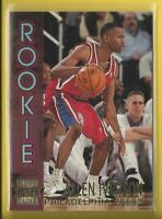 Allen Iverson RC 1996-97 Topps Stadium Club Rookie Card Philadelphia 76ers HOF