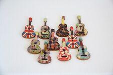 10 Pcs Mixed Color Guitar Fabrics Wooden Buttons Handmake Scrapbooking Craf - 11