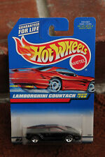 Lamborghini Countach 768 Hot Wheels Black Supercar 25th Anniversary MOC