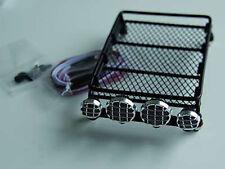 Zubehör für Crawler 1:10 Dachgepäckträger mit 4 LEDs D90 schwarz Komplettset NEU