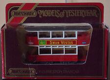 Matchbox Models of Yesteryear Preston Tramcar Y-15 1:51 1986