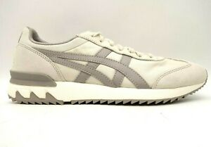 Onitsuka Tiger Beige Gray Leather Lace Up Casual Athletic Sneakers Shoes Men's 9