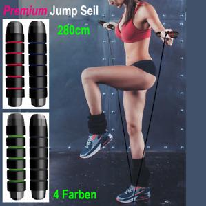 Springseil Sprungseil Hüpfseil Profi Sportseil Fitness Seilspringen Stahl Rope