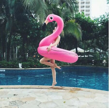 Inflatable Giant Flamingo Swimming Ring Summer Swim Float Rideable Raft Pool Toy