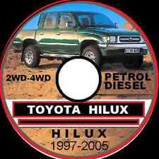 TOYOTA HILUX 1997-2004 2WD-4WD AUSTRALIAN REPAIR SERVICE MANUAL CD