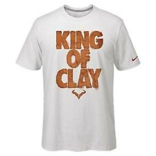 Nike Rafael Nadal Rafa Bull Tee Shirt LARGE L King of Clay White 638343-100