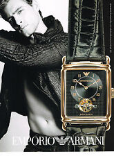 PUBLICITE ADVERTISING 054  2007   EMPORIO ARMANI   collection montres