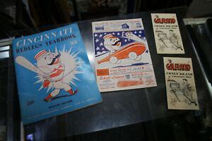 1956 CINCINNATI REDLEGS YEARBOOK 1ST YEAR FRANK ROBINSON CURT FLOOD + MORE! JSH