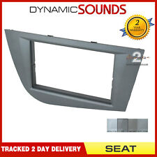 CT24ST31 Car Stereo Double Din Fascia Facia Panel Grey For Seat Leon 2005> Mk2
