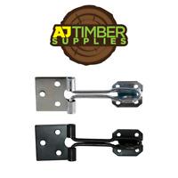 Taurus Wire Pattern Hasp And Staple Black + Zinc Shed Door, Garage, Garden, Lock