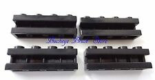 NEW Lego BLACK BRICK modified with Groove 1x4 - Lot/4