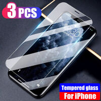 3PCS Tempered Glass Screen Protector For iPhone 11 XS Max XR XS X 11 Pro MAX 7 8