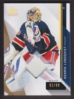 2014-15 SP Game Used Gold Spectrum #46 Henrik Lundqvist 91/99 New York Rangers
