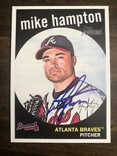 2008 Topps Heritage Mike Hampton #592 Auto Signed Autograph Braves