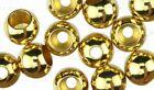 "GOLD Brass Fly Tying Beads [1.5mm-4.8mm] 1/16""-3/16"""