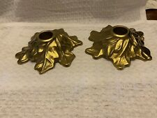 pair of collectible Mid Century Dirilyte Candlestick Holders Leaf Shaped Rare