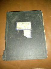 Very Unique Homemade Scrapbook 1926 - Ads, Obit Queen Mother,Pictures
