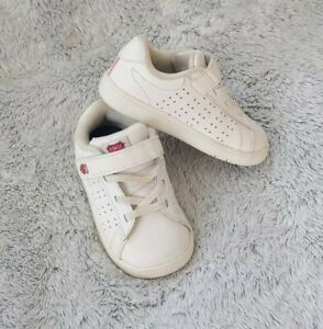 K Swiss Classic Size 7 Baby Infants Toddler Shoes White Leather Sneakers GUC