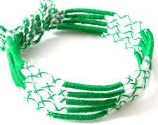 Lot 5 Bracelets Brésiliens de l'Amitié Macramé coton Friendship vert blanc green