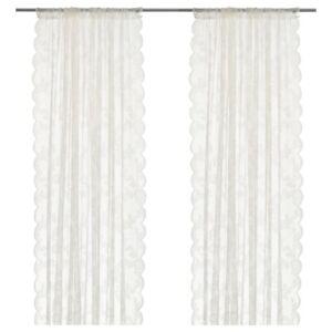 """NEW IKEA Alvine Spets, Floral Lace Curtains, 145cm X 300cm (57"""" X 118"""")"""