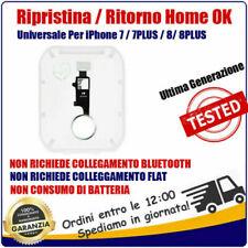 TASTO HOME FLAT FLEX PULSANTE RIPRISTINO PER iPhone 7 7Plus 8 8 Plus  bianco