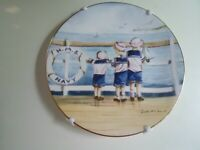 """H.M.S. NAVY""  ""Sweet Summer Days"" Royal Worcester Plate by Faye Whittaker"