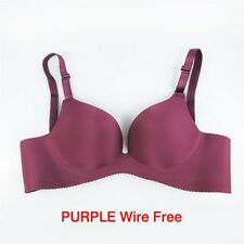 Women Super Push Up Bra Sexy Seamless Support Solid Underwire Brassiere Lingerie