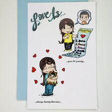 Love Is Greeting Card by Kim Casali (Thinking of you, Valentines Day)