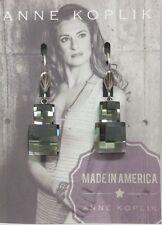 Anne Koplik Double Square Checkerboard Earrings Swarovski Elements New With Tags