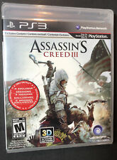 Assassin's Creed 3 [ First Print Black Label ] (PS3) NEW