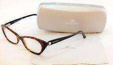 Authentic Swarovski Eyeglasses Frame Sydney SW5067 052 Dark Havana Plastic Italy