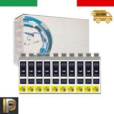 10 cartucce NERO per Epson BX305 FS22 SX125 SX130 SX230 SX235 WF7015