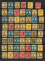 Lot of 55 Used Precancelled Stamps - Please See Photos -  IN EXCELLENT CONDITION
