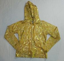 WOMENS JACKET HOODIE = BABY PHAT = SIZE Medium = gold paisley yellow = me87