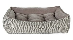 Bowsers Pet Scoop Bed Micro Jacquard Microlinen Microvelvet