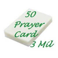 50 Prayer Card Laminating Laminator Pouches 3 Mil 2-3/4 x 4-1/2  Scotch Quality