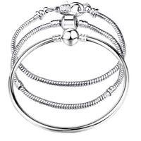 925 Sterling Silver Women's DIY Opulent Snake Link Bracelet Bangle D403-92-54