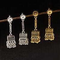 Women's Tassel Drop Ball Dangle Statement Wedding Gypsy Nepal Ethnic Earrings