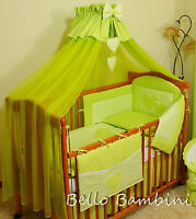 10pcs BABY BEDDING SET /BUMPER/CANOPY /HOLDER/DUVET/CANOPY 4 COT BED or COT sale