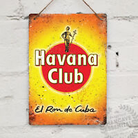 HAVANA CLUB RUM Replica Vintage Metal Wall sign Retro Pub Bar Mancave Drink