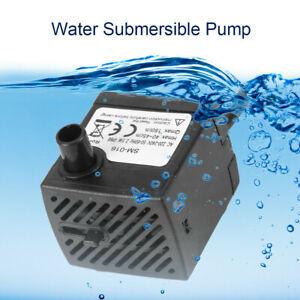 US Plug 2.5W Mini Small Submersible Water Pump Aquarium Pond Fish Tank Fountain