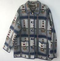 Size XL Womens Lighthouse Jacket Nautical Tapestry Blazer Blair