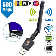 2.4GHz/5GHz WIFI Adapter WLAN USB 600Mbps Dongle Wireless Stick AC Dual band