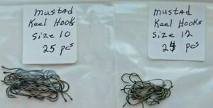 Lot 49 Pcs Mustad Keel  Size 10 & 12  Fly Tying Hooks For Material