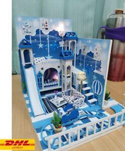 DIY Childish Little Wish Dollhouse With Dust Cover Miniature Handicraft