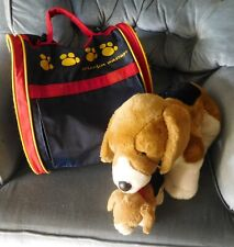 Build A Bear Babw 'Momma' Beagle and Puppy plus Pet Carrier Retired (T)